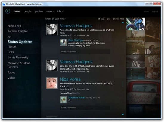 Silverlight Facebook Client (beta)