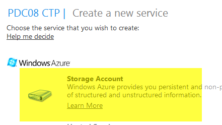 Azure Storage Account creation