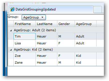 DataGrid grouping sample image