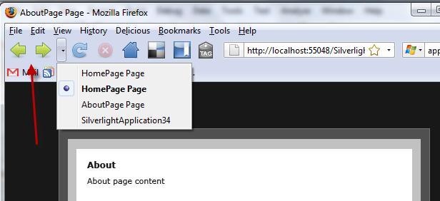 Navigation in-browser
