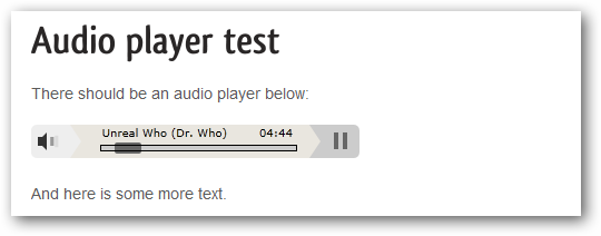Silverlight Audio Player for WordPress (expanded)
