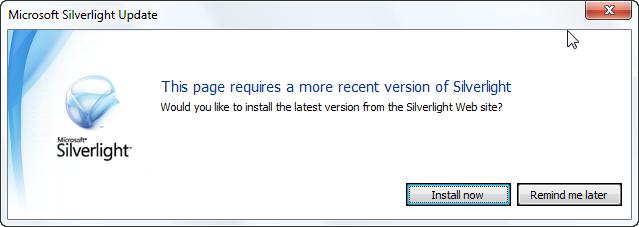 Silverlight default auto upgrade