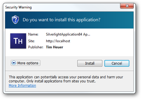 Signed trusted application on Windows