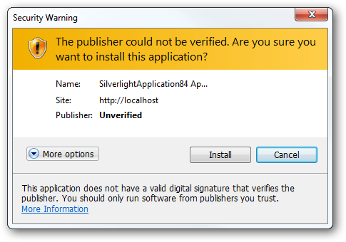 Unsigned trusted application on Windows