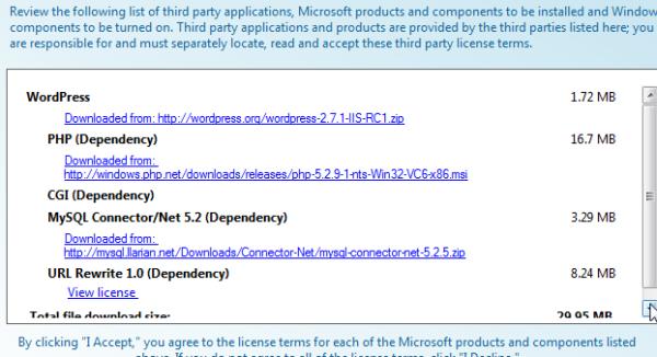 WordPress Install dependencies