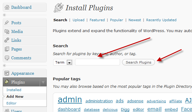 WordPress Plugin Search