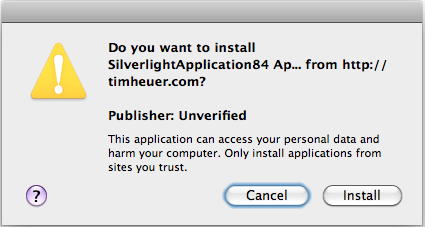 Unsigned trusted application on OSX